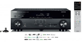 Yamaha RX-A550 front + remote