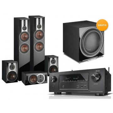 Denon AVR-X3400 + DALI OPTICON 6/1/VOKAL + K14 gratis