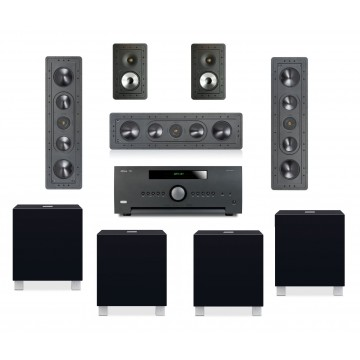 Arcam A390 + Monitor Audio CP-IW260X/CP-WT260 + Rel T5i